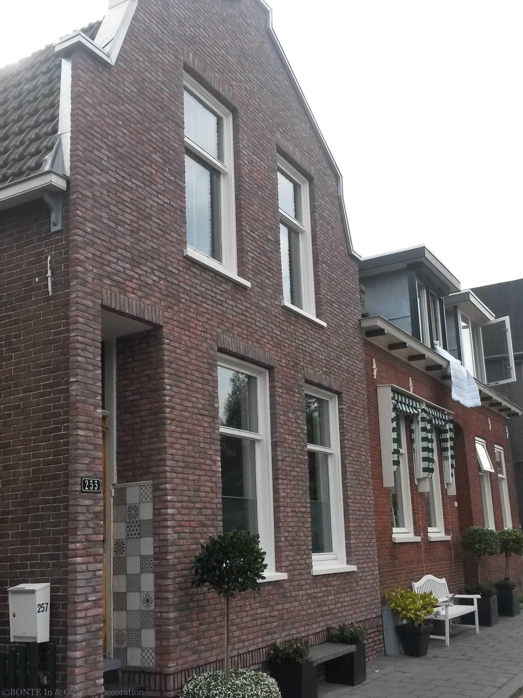 BONTE Antieke IJsselsteen Buitengevel BOskoop-2