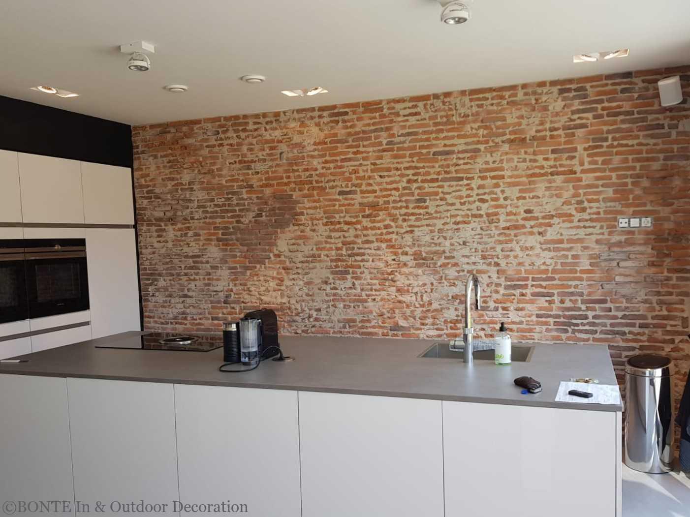 BONTE Antieke IJsselsteen Keuken Particulier